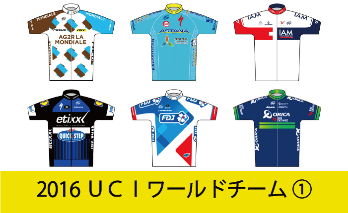 2016 UCIワールドチーム紹介①