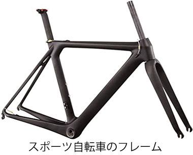 スポーツ自転車のフレーム