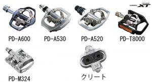 シマノ[shimano] ビンディングペダル SPD 街乗り用 価格と重量