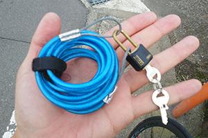 ロードバイクの盗難防止 手作りの鍵