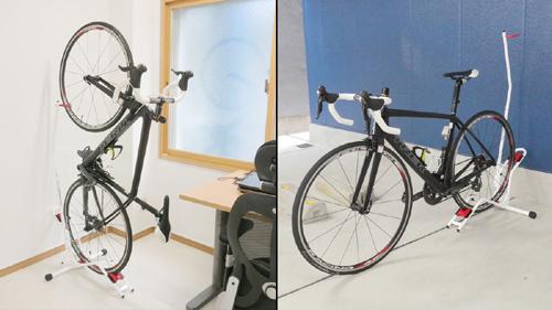 縦置きも横置きもできる自転車スタンド ロードバイク・クロスバイクを室内保管