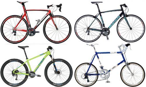 比較まとめ!ロードバイク/クロスバイク/MTB/ミニベロの違い!