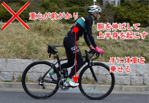 間違ったダンシングフォーム 効率よく速く走る!ロードバイクのダンシング