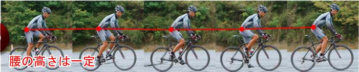 腰の高さは一定に 効率よく速く走る!ロードバイクのダンシング