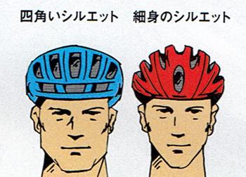 ロードバイク用ヘルメットのシルエットの違い