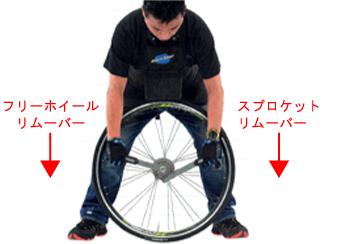 ロードバイクのスプロケの外し方