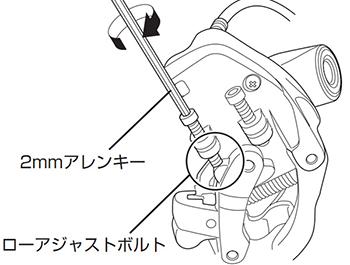 ローアジャストボルトの調整図