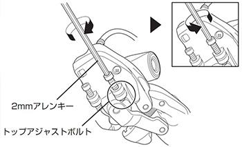 トップアジャストボルトの調整図