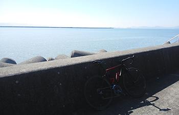 ロードバイクでロングライド 宇土半島からの風景