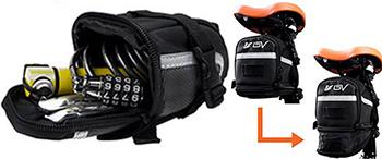 ビーブイ/BV サイクリングバッグ ストラップ式 ロードバイクのおすすめサドルバッグ