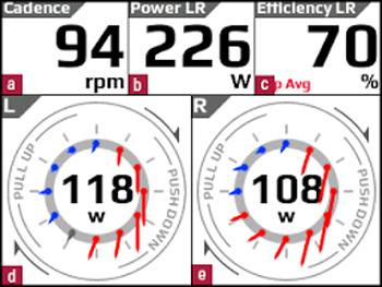 ロードバイクのパワーメータ機能まとめ 表示画面