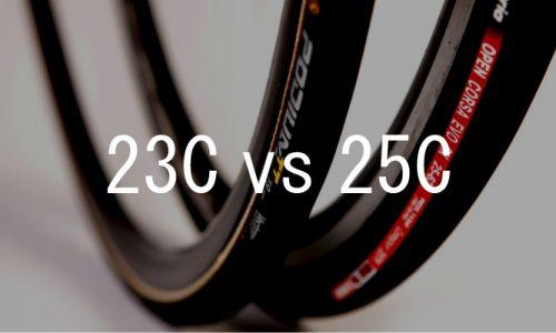 実際どっちがいいの?ロードバイクのタイヤ 25Cと23C を選ぶ
