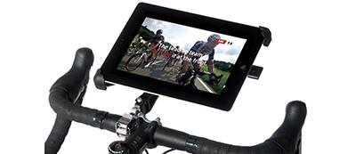 自転車(ロードバイク)にアイパッドを固定するアイテム