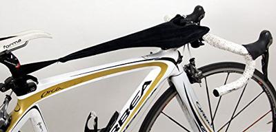 自転車でローラー台練習時の汗受けネット