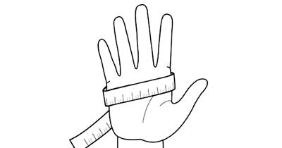 サイクルグローブのサイズは手のひらの周りを測る