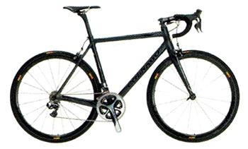黒を基調とした最高級のハイエンド ロードバイク