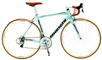 足回りやコンポーネントをシルバーにすればクラシックな雰囲気のロードバイクになる