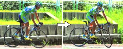 ロードバイクで狭い道の転回 良い例 パート1