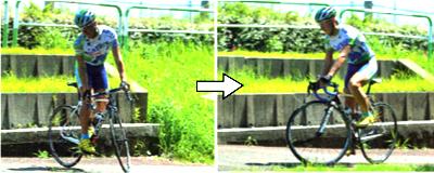 ロードバイクで狭い道の転回 良い例 パート2