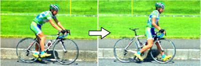 難易度が高いスムーズなロードバイクの降り方 パート1