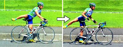 難易度が高いスムーズなロードバイクの降り方 パート2