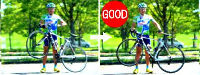 ロードバイクを立てて方向転換 良い例 パート2