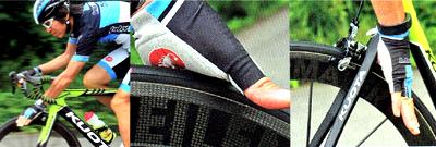 ロードバイクで走りながらタイヤに刺さった破片を取り除く
