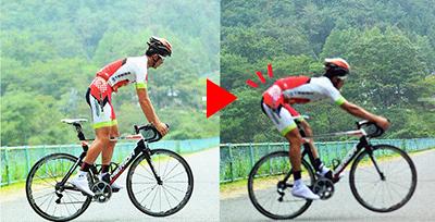 止まったままのウイリー「ダニエル」をする方法 ブレーキをかけて体重移動