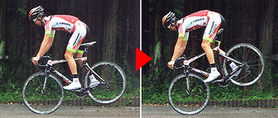 ロードバイクでジャックナイフをするコツ バイクコントロールで後輪を浮かす
