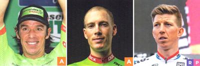 2017年ロードレース キャノンデール・ドラパック プロフェッショナルサイクリングチームの注目選手 リゴベルト・ウラン/アンドリュー・タランスキー/セップ・ヴァンマルケ