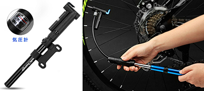 AoSkyの空気圧測定式自転車用携帯空気入れ