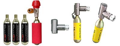 CO2ボンベ&インフレーター スポーツバイク用携帯空気入れ