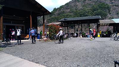 サイクルイベント「八代センチュリーライド」の昼食会場