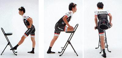 膝を痛めないようにロードバイクに乗る前にストレッチをする