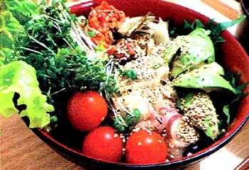 サイクリング後にもおすすめの簡単野菜どんぶり