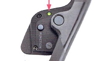 電動無線式コンポーネント SRAM RED e TAP【スラム レッド イータップ】の電池残量表示