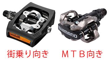 シマノのSPDペダル参考画像