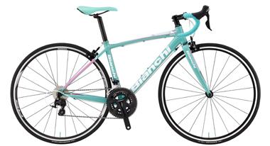 ビアンキ/Bianchiの女性向けロードバイク VIA NIRONE 7 DAMA BIANCA 105 16万円