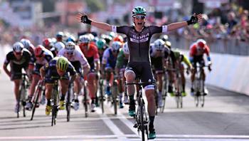 2017年 ジロ・デ・イタリア 第1ステージで優勝したルーカス・ポストルベルガー(ボーラ・ハンスグローエ)