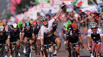 2017年 ジロ・デ・イタリア 第2ステージで優勝したアンドレ・グライペル(ロット・スーダル)