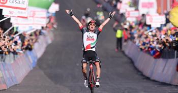 2017年 ジロ・デ・イタリア 第4ステージで優勝したヤン・ポランツェ (UAE・チームエミレーツ)
