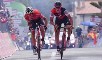 2017年 ジロ・デ・イタリア 第6ステージで優勝したシルヴァン・ディリエ(BMCレーシングチーム)