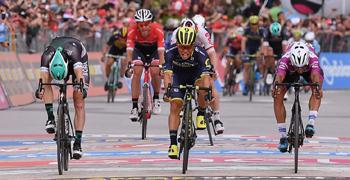 2017年 ジロ・デ・イタリア 第7ステージで優勝したカレブ・イーウェン(オリカ・スコット)