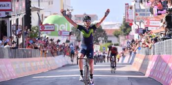 2017年 ジロ・デ・イタリア 第8ステージで優勝したゴルカ・イサギレ(モビスターチーム)