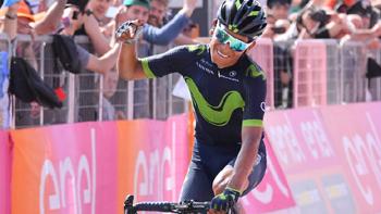 2017年 ジロ・デ・イタリア 第9ステージで優勝したナイロ・キンタナ(モビスターチーム)