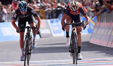2017年 ジロ・デ・イタリア 第16ステージで優勝したビンチェンツォ・ニバリ(バーレーン・メリダ)