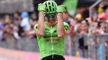 2017年 ジロ・デ・イタリア 第17ステージで優勝したピエール・ローラン(キャノンデール・ドラパック)