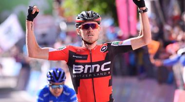 2017年 ジロ・デ・イタリア 第21ステージで優勝したティージェイ・ヴァンガードレン (BMC)