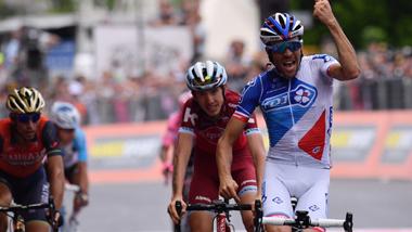 2017年 ジロ・デ・イタリア 第21ステージで優勝したティボ・ピノー(エフデジ)