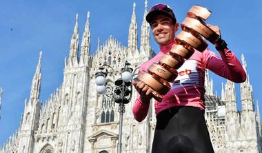 2017年 ジロ・デ・イタリア 総合優勝したトム・ドゥムラン(チームサンウェブ/オランダ)